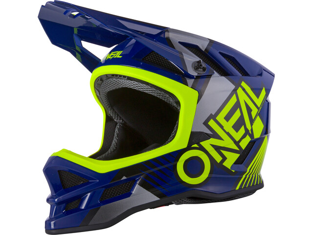 O'Neal Blade Polyacrylite Kask Delta, blue/neon yellow